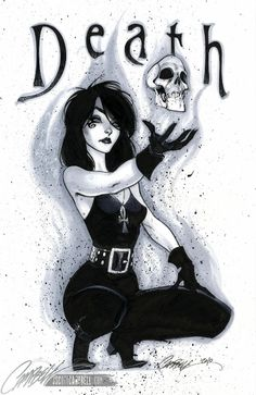 "Death of the Endless from my beloved Neil Gaiman's comic series, ""Sandman"""