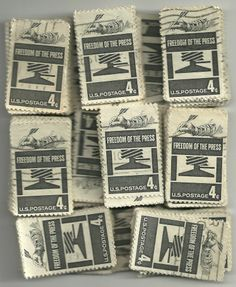 # 1119 x 100 Used US Stamps Lot Freedom of the Press Issue See our other lots