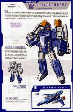 Transformers: Decepticons - Targetmaster - Triggerhappy w/ Blowpipe Transformers Decepticons, Transformers Characters, Transformers Movie, Transformers Drawing, Transformers Collection, Transformers Generation 1, Mecha Anime, Manga, Marvel
