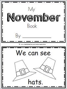 """Free November Book for Kindergarten Practice reading the words """"We can see."""" There are 10 pages in this November book. You can print and use… Thanksgiving Preschool, Fall Preschool, Kindergarten Classroom, Preschool Activities, November Thanksgiving, Thanksgiving Emergent Reader Free, Classroom Tools, Preschool Curriculum, Preschool Learning"""