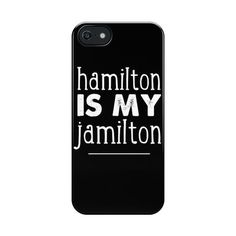 Hamilton Phone Case ❤ liked on Polyvore featuring accessories and tech accessories