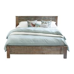 reclaimed wood bed frame that Kat loves 2