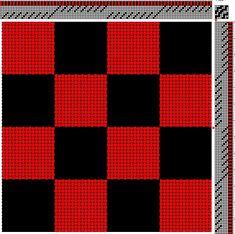 Plain Weave Doubleweave Checkers on 8S