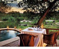 Fantastic Open Air Resorts In Exotic Place In South Africa Sand Game, Outdoor Tables, Outdoor Decor, Exotic Places, Game Reserve, Vacation Packages, Lodges, South Africa, The Best