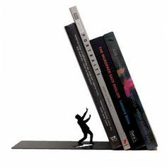 Serre livres noir design defensive man  /// 18,90 €