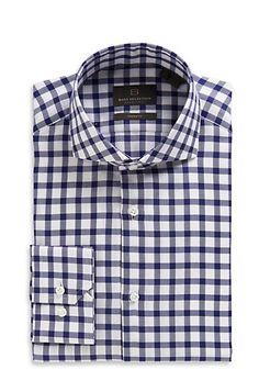 Just grabbed for Mark:  Modern Fit Spread Collar 'Christo' Dress Shirt, Dark Blue-- Super hot!