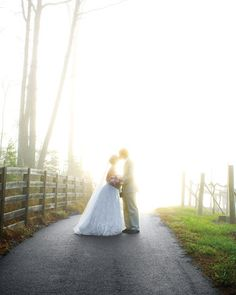 This is from possibly the best wedding ever (at least from Martha Stewart). It's at sunRISE