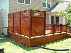 Small Deck Ideas – Decorating Porch Design On A Budget Space Saving DIY Backyard… - how to build a fence Hot Tub Privacy, Backyard Privacy, Backyard Patio, Backyard Ideas, Outdoor Privacy, Fence Ideas, Patio Ideas, Decks With Privacy Walls, Deck Privacy Screens