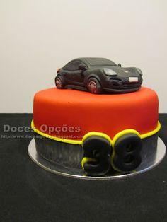 Doces Opções: Bolo de aniversário com um Porsche