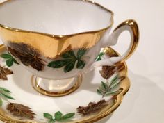 Salisbury Tea Cup and Saucer China Tea Cups by AprilsLuxuries