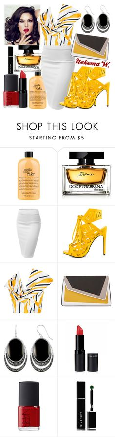 """👓👛💄"" by sexyshonda ❤ liked on Polyvore featuring philosophy, Dolce&Gabbana, J.TOMSON, Privileged, Maticevski, âme moi, Le Vieux, New Look, NARS Cosmetics and Givenchy"