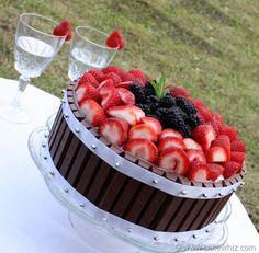 Kit Kat cake with fruits