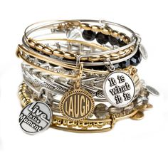 Alex and Ani (£66) ❤ liked on Polyvore featuring jewelry, bracelets, accessories, pulseiras, bracelets & bangles, alex and ani, hinged bracelet, alex and ani bracelet and hinged bangle