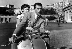 Audrey Hepburn and Gregory Peck on a Vespa in the William Wyler film Roman Holiday, Gregory Peck, Audrey Hepburn Poster, Beau Film, Tyrone Power, Dirty Dancing, Martin Scorsese, Mamma Mia, Alfred Hitchcock, Gilmore Girls