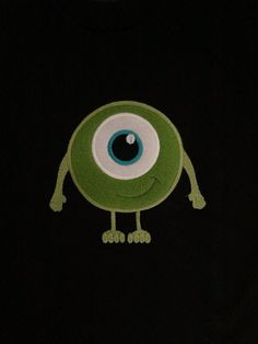 Mike from Monsters Inc.  Perfectly for wearing to Monsters University!