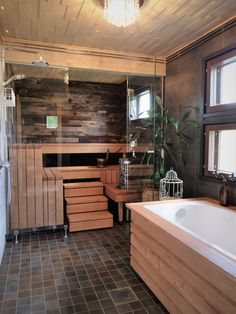 The Tale of the Finnish Birch Wood - Birch&Tales ~ Sauna from Finland Sauna Design, Home Gym Design, House Design, Spa Rooms, Sauna Room, Wood Interior Design, Home Spa, Dream House Plans, Industrial House