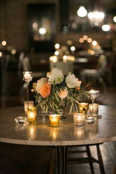 Romantic Candlelit Reception Tables