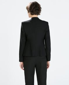Image 5 of BLAZER WITH METAL ZIPS from Zara
