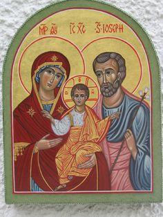 icona della Sacra Famiglia per mano di Cristina Capella . www.mirabileydio.it