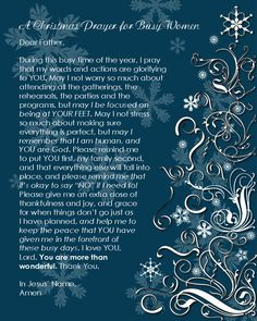 A Christmas Prayer - FREE PRINTABLE!