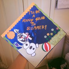 Frozen themed graduation cap decoration