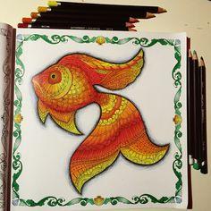 Big red fish #johannabasford #lostocean #oceanodellemeraviglie #coloringbook
