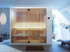 Sauna INIPI B By Duravit design EOOS Home Steam Room, Sauna Steam Room, Duravit, Design Sauna, Infrarot Sauna, Diy Sauna, Sauna Ideas, Steam Shower Cabin, Private Sauna