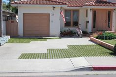 Parking Area Paved With Drivable Grass® and Artificial Grass