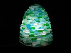 沖縄シーグラス探訪日記:シーグラスのランプシェード作れるかな?2