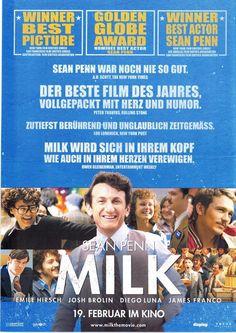 MILK - Sean Penn Josh Brolin Emile Hirsch - 2008 ORIG. FILMPOSTER A4