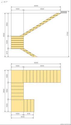 Cálculo escada c 180 graus virar