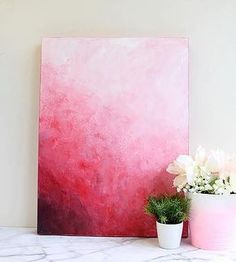 Create this project with Americana® Premium™ Acrylics — A palette knife and a large brush are great ways to make your own simple, abstract painting. Diy Painting, Watercolor Art, Abstract Art Painting, Art Painting, Red Abstract Painting, Art Painting Acrylic, Art, Abstract, Canvas Painting