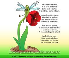 Poezie terapeutica: Libelula lacoma - evitarea excesului alimentar, corectarea sunetului L Experiment, School Coloring Pages, Kids Poems, Zoo Animals, Raising Kids, Kids Education, Nursery Rhymes, Speech Therapy, Projects For Kids