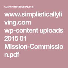 www.simplisticallyliving.com wp-content uploads 2015 01 Mission-Commission.pdf