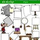 Assorted Blank Sign Clip art / Graphic  Included are 16 Color, 16 Grayscale, and 16 Black and White / Black Lined Transparent   48 Items Total.  Ea...