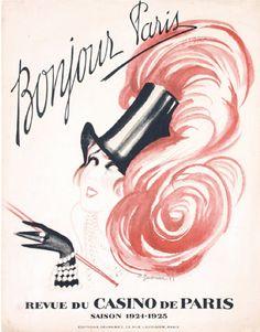 By Charles Gesmar (1900-1928), 1925, Bonjour Paris, Casino de Paris, Devambez, Paris.
