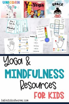Teach kids about yoga and mindfulness with these children's books and resources for families. Teaching Mindfulness, Mindfulness Books, Mindfulness Training, Mindfulness Exercises, Mindfulness For Kids, Practical Parenting, Parenting Tips, Kids And Parenting, Mental Health And Wellbeing