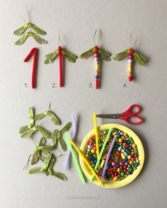 Crafts in autumn - come to the dragonfly pond! - Dragonflies still abound here, even though it& already September. This kindergarten craft is q - Toddler Crafts, Preschool Crafts, Diy And Crafts, Crafts For Kids, Arts And Crafts, Recycled Crafts, Summer Crafts, Fall Crafts, Halloween Crafts