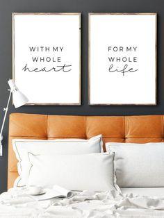 Bedroom Wall Decor Above Bed, Bedroom Signs, Bed Wall, Bedroom Decor, Bedroom Ideas, Living Pequeños, Living Room, Bedroom Canvas, Bedroom Quotes
