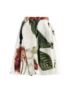 Vivienne Westwood Anglomania rose print skirt