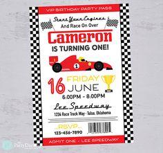 Race Car Birthday Invitation Race Car Invitation Race Car Cars Invitation, Cars Birthday Invitations, Digital Invitations, Custom Invitations, Nascar Party, Race Car Party, Race Car Birthday, Cars Birthday Parties