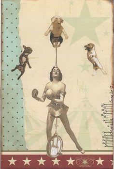 Danielle Maret - Mail art Postcard-195, via Flickr.