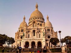 Sacre Coeur sunset in Paris (in honor of Bastille Day in France)
