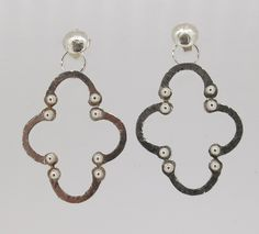 """""""Seductive silver studs"""" - these Moroccan inspired sterling silver earrings measure 25mm at their widest point and have a total drop of 40mm. Add them to your collection now for just $85(AUD) from mhoriginals.com.au ❤"""