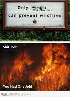 9GAG - SH*T, JOSH!