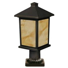 Z-Lite Holbrook Collection Olde Rubbed Bronze Finish Outdoor Post Light