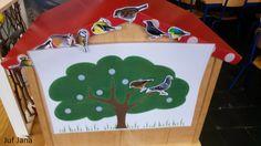 Peuters en kleuters kunnen de vogels een mooie plaats geven in de boom