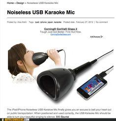 Wonderful, the Noiseless Karaoke Microphone
