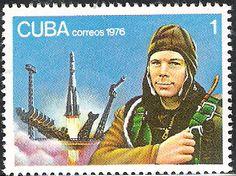 Yuri Gagarin stamp  Cuba, 1976
