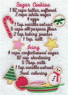 Machine Embroidery Designs at Embroidery Library! - Recipes